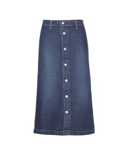 Alexa Chung for AG | Cool Denim Midi Skirt