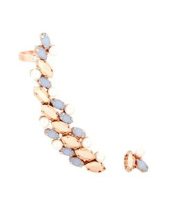 Joanna Laura Constantine | Rose Gold-Plated Crystal Cuff And Earring Set