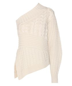 Burberry | Cashmere Cable-Knit Asymmetric Sweater