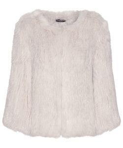 Meteo By Yves Salomon   Knitted Rabbit Fur Jacket