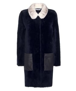 Inès & Maréchal | Absinthe Dorena Shearling Coat With Mink Collar