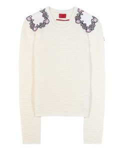 Moncler Gamme Rouge   Virgin Wool Sweater With Appliqué