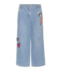 Kenzo | Cropped Jeans With Appliqué