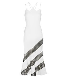 David Koma | Crêpe Striped Dress