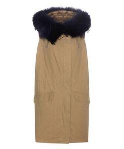 Army Yves Salomon | Fur-Trimmed Cotton Vest