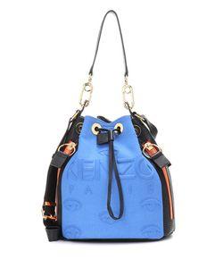 Kenzo | Bucket Bag Kombo Leather And Fabric Shoulder Bag