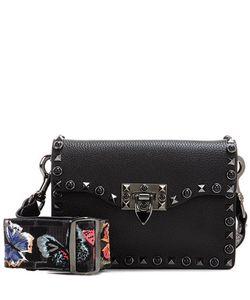 Valentino | Garavani Rockstud Rolling Noir Leather Shoulder Bag