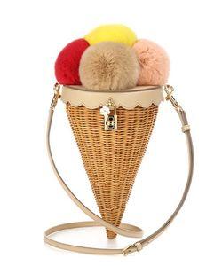 Dolce & Gabbana | Rattan Fur And Leather Shoulder Bag