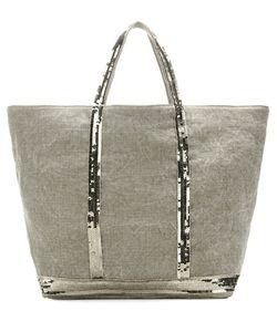 Vanessa Bruno | Cabas Medium Embellished Linen Canvas Shopper