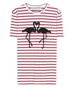Être Cécile | Flamingo Striped Cotton T-Shirt
