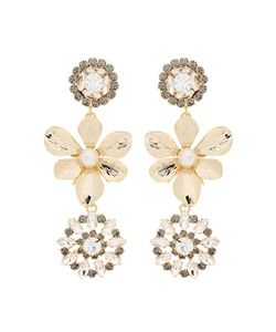 Erdem | Crystal Embellished Pearl Clip-On Earrings