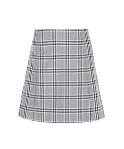 Wood Wood | Stella Check Cotton Miniskirt