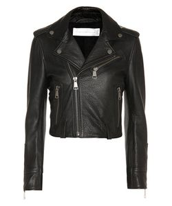 Victoria, Victoria Beckham | Cropped Leather Biker Jacket