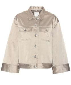Wood Wood | Pauline Satin Cotton-Blend Jacket