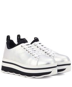 Prada   Wave Leather Platform Sneakers