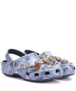 Christopher Kane | Embellished Printed Crocs