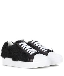 Prada | Faux Fur Sneakers