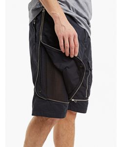 Stone Island Shadow Project | Zip-Detail Shorts