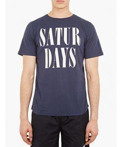 Saturdays Surf Nyc   Logo Motif Cotton T-Shirt