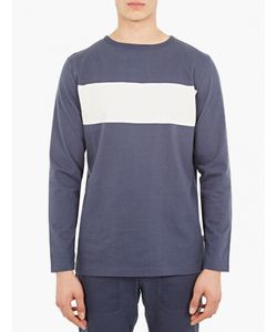 Saturdays Surf Nyc   Blue Heavy Cotton Long-Sleeved T-Shirt