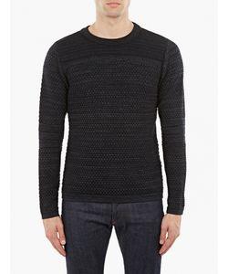 S.N.S. Herning | Navy Bobble-Knit Wool Sweater