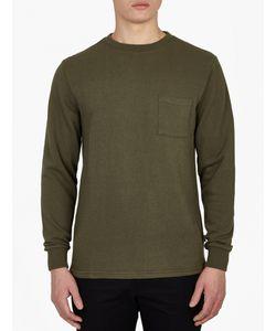 Saturdays Surf Nyc   Green Textured Cotton Sweatshirt