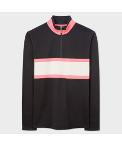 Paul Smith | Mens Half-Zip Loopback-Cotton Sweatshirt With Contrast Stripe