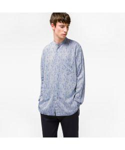 Paul Smith | Mens Jacquard Band-Collar Cotton-Blend Shirt