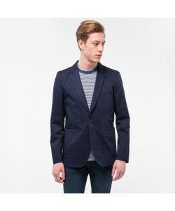 Paul Smith | Mens Stretch-Cotton Patch Pocket Blazer