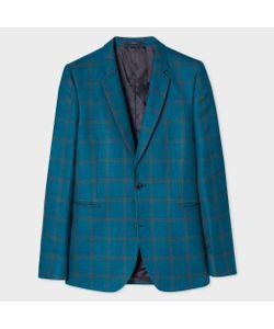 Paul Smith | Mens Slim-Fit Linen And Silk-Blend Check Blazer