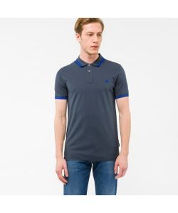 Paul Smith | Mens Slim-Fit Ps Logo Polo Shirt With Tipping