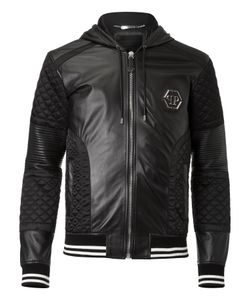 Philipp Plein | Leather Jacket Now Stop