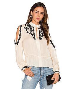 Haute Hippie | Блуза С Кружевной Аппликацией И Открытыми Плечами