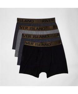 River Island | Mens Waistband Trunk Multipack
