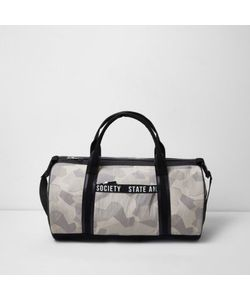 River Island | Mens Camouflage Holdall Bag