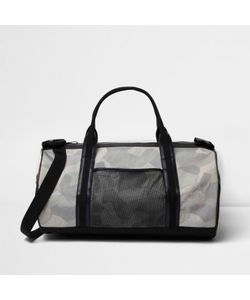 River Island | Mens Camouflage Print Holdall Bag