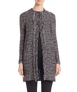 M Missoni | Lurex Fringed Long Crochet Coat
