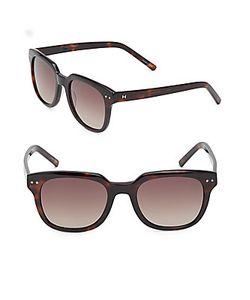 Halston | 53mm Modified Wayfarer Sunglasses