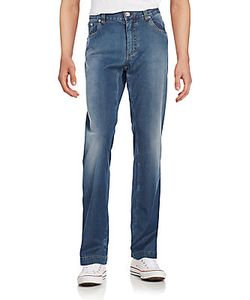 Billionaire Boys Club | Embroidered Stone-Wash Straight-Leg Jeans
