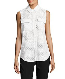 Equipment | Perforated Point-Collar Cotton Top