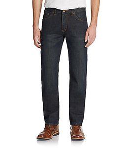 Raleigh Denim | Alexander Straight-Leg Tinted Denim Jeans