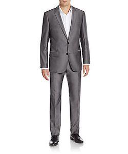 Hugo Hugo Boss | Regular-Fit Shark Skin Wool-Blend Suit