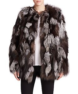 Meteo By Yves Salomon   Patchwork Fox Fur Coat