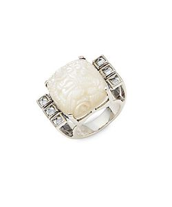 Stephen Dweck | Mother-Of-Pearl Quartz Sterling Ring