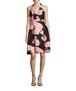 Halston | Halterneck A-Line Dress