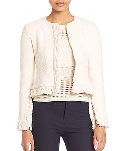 Derek Lam | Cotton Fringed Short Jacket