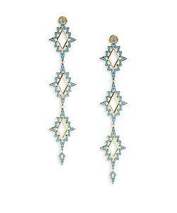 Noir | Turquoise 18kplated Drop Earrings