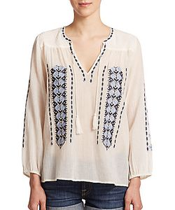 Joie   Calantha Embroide Cotton Tunic