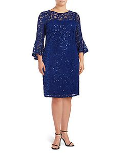 Marina | Sequined Lace Dress