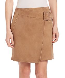 Vince | Suede Asymmetrical Belted Skirt